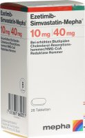 Immagine del prodotto Ezetimib-simvastatin Mepha Tabletten 10/40mg Dose 28 Stück