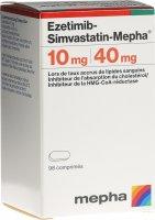 Immagine del prodotto Ezetimib-simvastatin Mepha Tabletten 10/40mg Dose 98 Stück