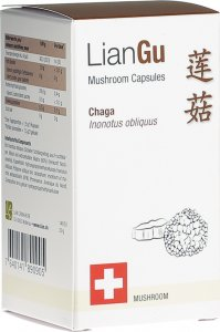 Product picture of LianGu Chaga Mushrooms Capsules Can 60 Pieces