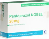 Immagine del prodotto Pantoprazol Nobel Filmtabletten 20mg 60 Stück