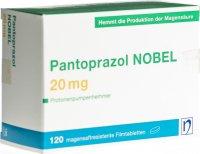 Immagine del prodotto Pantoprazol Nobel Filmtabletten 20mg 120 Stück