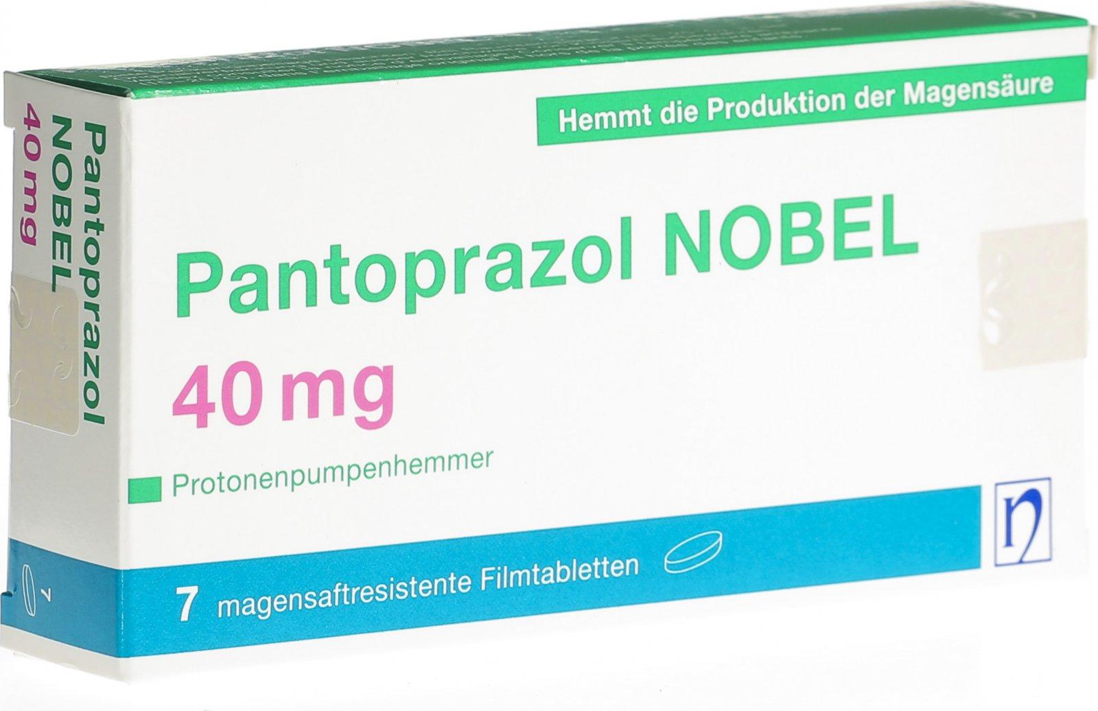 Pantoprazol Nobel Filmtabletten 40mg 7 Stück in der Adler