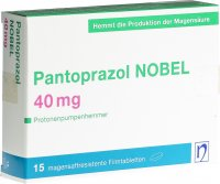 Immagine del prodotto Pantoprazol Nobel Filmtabletten 40mg 15 Stück