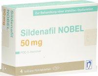 Immagine del prodotto Sildenafil Nobel Filmtabletten 50mg 4 Stück