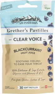 Product picture of Swissherbs Grether's Pastilles Blackcurrant without sugar bag 45g