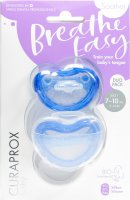 Product picture of Curaprox Baby pacifier size 1 blue double new 2 pieces