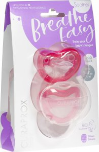 Product picture of Curaprox Baby pacifier size 0 Pink Double New 2 pieces