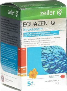 Product picture of Equazen IQ chewing caps strawberry Flavour can 60 pieces