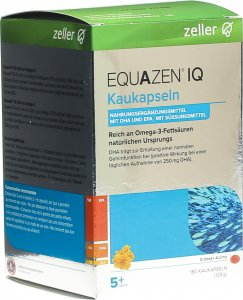 Product picture of Equazen IQ chewing capsules strawberry flavour tin 180 pieces