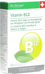 Product picture of Dr. Dünner Vitamin B12 Capsules vegan 40 pieces