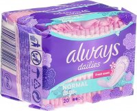 Product picture of Always panty liner Singles odour neutralizing normal 20 pieces