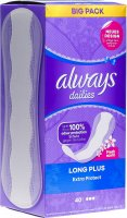 Product picture of Always Panty Liner Extra Protection Long Plus 40 pieces