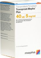 Immagine del prodotto Travoprost Mepha Plus 0.04mg/5mg 3 Flasche 2.5ml
