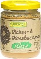 Image du produit Rapunzel Kokos-Haselnussmus mit Dattel Glas 250g