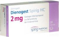 Immagine del prodotto Dienogest Spirig HC Tabletten 2mg 28 Stück