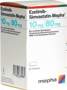 Immagine del prodotto Ezetimib-simvastatin Mepha Tabletten 10/80mg Dose 98 Stück