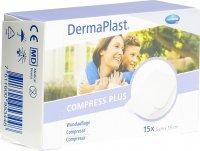 Product picture of Dermaplast Compress Plus 5x7.5cm 15 Pieces