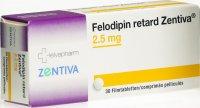 Immagine del prodotto Felodipin Retard Zentiva 2.5mg 30 Stück