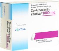 Immagine del prodotto Co-amoxicillin Zentiva Filmtabletten 1000mg 20 Stück