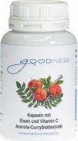 Image du produit Goodness Eisen mit Vitamin C Kapseln 600mg 90 Stück