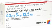Immagine del prodotto Olmesartan Amlo HCT Mepha Lactab 40/5/12.5 28 Stück