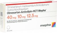Immagine del prodotto Olmesartan Amlo HCT Mepha Lactab 40/10/12.5 28 Stück