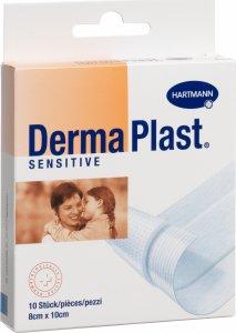 Product picture of Dermaplast Sensitive Quick Bandage White 8x10cm 10 Pieces