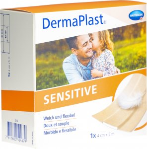 Product picture of Dermaplast Sensitive Quick Bandage Skin-Coloured 4cmx5m Roll