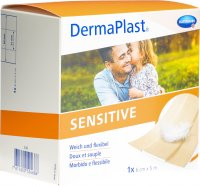 Product picture of Dermaplast Sensitive Quick Bandage Skin-Coloured 6cmx5m Roll