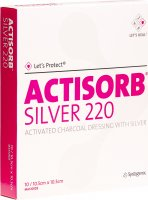 Let's Protect Actisorb Silver 220 Kohleverband 10.5x10.5cm 10 Stück