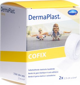 Product picture of Dermaplast Cofix Gauze Bandage 2.5cmx4m White 2 Pieces