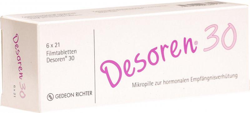 Desoren-30 6x21 Tabletten in der Adler Apotheke