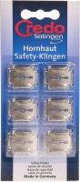 Image du produit Credo Hornhaut Safety Klingen Blister 6 Stück