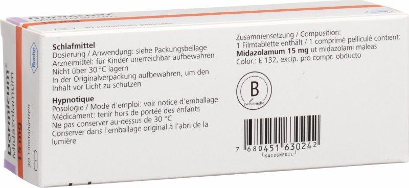 Dormicum 15 mg bijsluiter