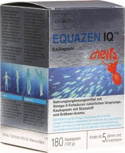 Product picture of Equazen IQ Strawberry chewing capsules 180 pieces