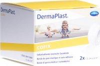 Product picture of Dermaplast Cofix gauze bandage 1.5cmx4m white 2 pieces