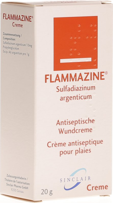 flammazine creme 20g in der adler apotheke. Black Bedroom Furniture Sets. Home Design Ideas