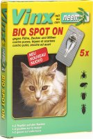 Product picture of Vinx Bio Spot On Tropfen mit Neem Katze 5x 1ml