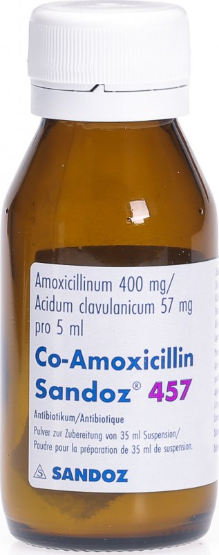Co Amoxicillin Sandoz Pulver 457mg Suspension 35ml in der ...