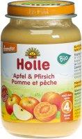 Image du produit Holle Pêche & Pomme du 4ème mois Bio 190g