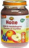 Image du produit Holle Pomme et Myrtilles du 4 mois Bio 190g