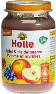 Product picture of Holle Apple & Blueberries from the 4 month Organic 190g