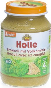 Product picture of Holle Broccoli with wholegrain Rice from the 4th month Bio 190g
