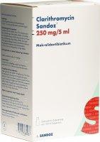 Immagine del prodotto Clarithromycin Sandoz Suspension 250mg/5ml 100ml