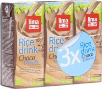 Lima Rice Drink Choco M Trinkhalm 3x 200ml