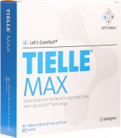 Let's Comfort Tielle Max Hydropolymer-Verband 15x15cm 10 Stück