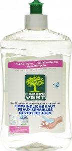Product picture of L'Arbre Vert Dishwashing Liquid Sensitive Skin 500ml