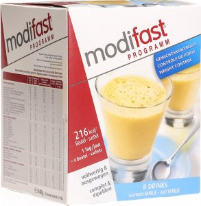 Produktbild von Modifast Weight Loss Program Drink Vanille 8x 55g