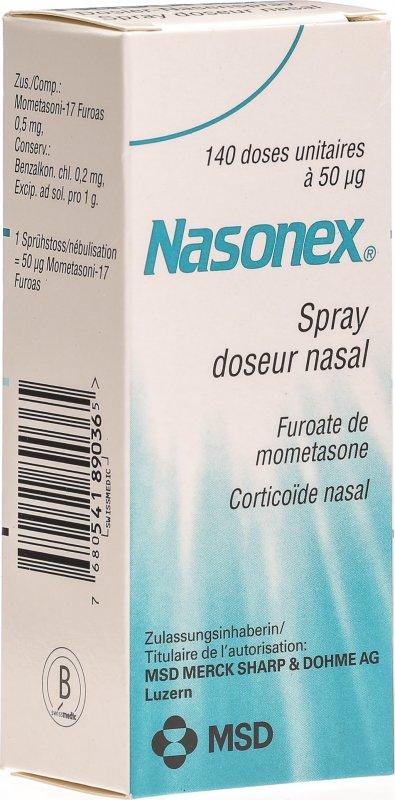 Nasonex Dosier Nasenspray 50mcg 140 Dos in der Adler Apotheke