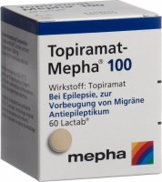 Topiramat Mepha Lactabs 100mg 60 Stück